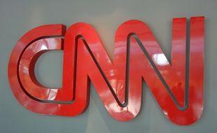 Le logo de la chaîne d'information en continu CNN.