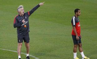 L'attaquant du PSG Lucas Moura sous les ordres de Carlo Ancelotti, le 1er janvier 2013 à Doha, au Qatar.