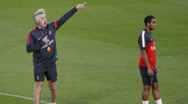 L'attaquant du PSG Lucas Moura sous les ordres de Carlo Ancelotti, le 1er janvier 2013 à Doha, au Qatar. – REUTERS