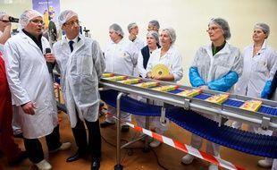 François Hollande en visite à l'usine Findus de Boulogne, en 2012
