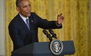 Le président Barack Obama, lors d'une conférence de presse, le 16 janvier 2015, à Washington