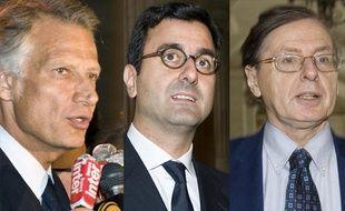 Dominique de Villepin, Imad Lahoud et Jean-Louis Gergorin, sur le banc des accusés dans le procès Clearstream.