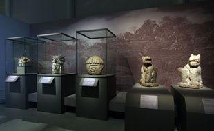 """Musée du quai Branly. Exposition temporaire : """"LES MAYAS révélation d'un temps sans fin"""". Du 7 octobre 2014 au 8 février 2015."""