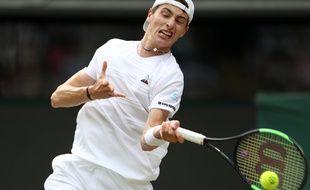 Ugo Humbert face à Novak Djokovic ce lundi.