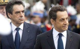 Nicolas Sarkozy et François Fillon, en mai 2012.
