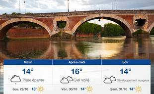 Météo Toulouse: Prévisions du mercredi 28 octobre 2020