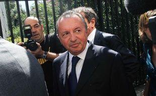 Jean-Noël Guérini, président du Conseil général des Bouches-du-Rhône, arrive au Tribunal de grande instance de Marseille, le 8 septembre 2011.