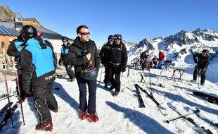 Emmanuel Macron au ski à La Mongie, le 15 mars 2019.