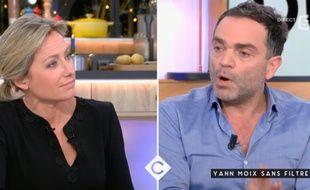 Anne-Sophie Lapix et Yann Moix règlent leurs comptes sur le plateau de « C à vous »