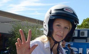 Marion Maréchal-Le Pen quittant le circuit du Castellet (Var) le 18 septembre 2015
