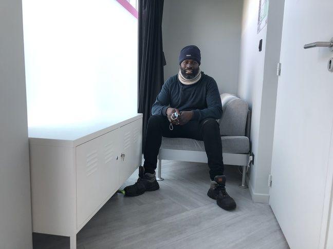 Le 14 janvier 2021. Souleymane est hébergé gracieusement dans les bureaux de Nobilito à Nantes