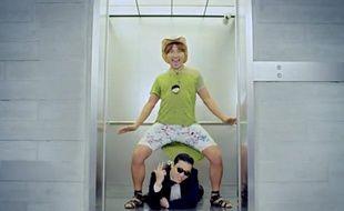 Capture d'écran de la vidéo Youtube de PSY - Gangnam Style.