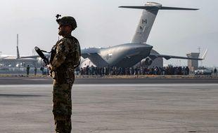 Un avion US Air Force à Kaboul le 21 août 2021.