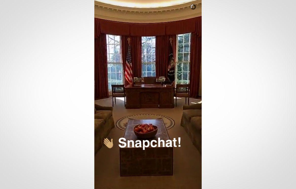 Le premier «snap» publié par la Maison Blanche sur Snapchat. – SNAPCHAT