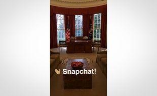 Le premier «snap» publié par la Maison Blanche sur Snapchat.