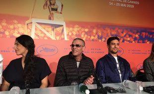 Abdellatif Kechiche et son équipe à la conférence de presse du film Mektoub My Love : Intermezzo