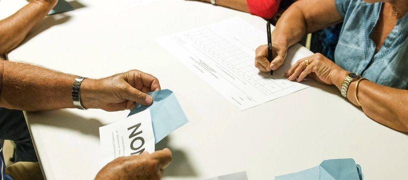 Lors du référendum en Nouvelle-Calédonie en 2018.