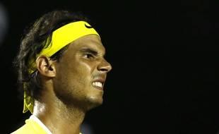 Rafael Nadal à l'Open de Rio, au Brésil, le 16 février 2016.