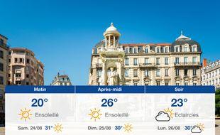 Météo Lyon: Prévisions du vendredi 23 août 2019