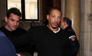 Didier Morville, alias Joey Starr, au tribunal correctionnel de Paris pour violences conjugales, le 13 février 2009.