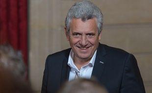 Claude Onesta lors de la réception à l'Elysée après le titre de champion de monde des Experts, le 30 janvier 2017.