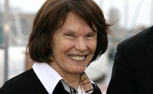 Danielle Mitterrand participe à une manifestation à Marseille, le 23 septembre 2010.