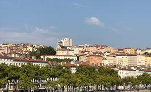 La colline de la Croix-Rousse à Lyon.