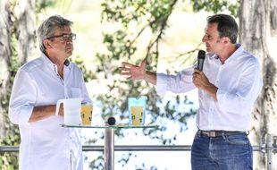 Jean-Luc Mélenchon (à gauche) et Eric Piolle (EELV) plaident un rapprochement