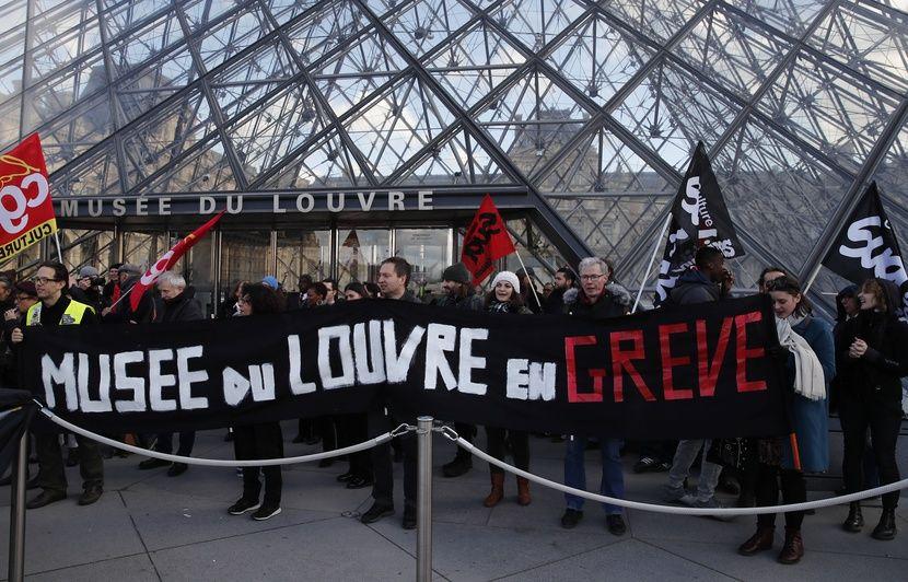 Réforme des retraites : Après une journée de blocage, le musée du Louvre a rouvert samedi