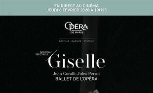 Affiche du film Giselle (Opéra de Paris-FRA Cinéma)