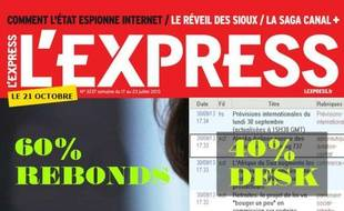 Montage réalisé par laSDJ de L'Express pour dénoncer le projet de réorganisation du web...
