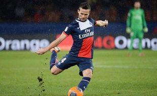 Yohan Cabaye lors du match entre le PSG et Bordeaux le 31 janvier 2014.