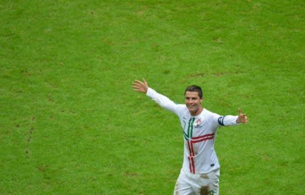 """""""On a montré une belle unité sur le terrain"""", a salué Cristiano Ronaldo, attaquant et capitaine du Portugal, auteur du but de la qualification en demi-finale de l'Euro-2012, face à la République Tchèque, battue (1-0) en quarts jeudi à Varsovie. – Gabriel Bouys afp.com"""