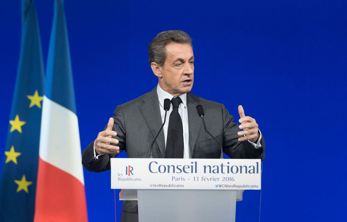 Nicolas Sarkozy, président du parti Les Republicains, le 13/02/2016 lors du Conseil national du parti.  Credit:WITT/SIPA/1602131844 – SIPA