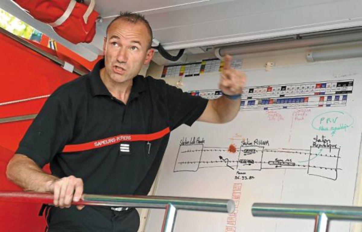 Schéma d'intervention pour les 75 pompiers mobilisés pour l'opération. –  M.Libert / 20 Minutes