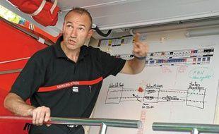 Schéma d'intervention pour les 75 pompiers mobilisés pour l'opération.