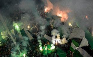 Les supporters stéphanois, ici face à Lille lors du dernier match de Ligue 1 de la saison passée.