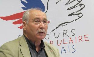 Jean-Louis Callens, secrétaire général du Secours populaire du Nord.