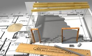 Illustration d'un plan de maison.