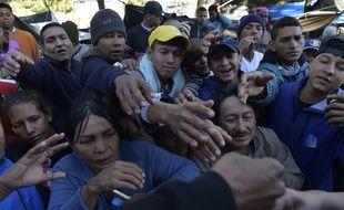Des Vénézuéliens réfugiés en Equateur le 9 août 2018.