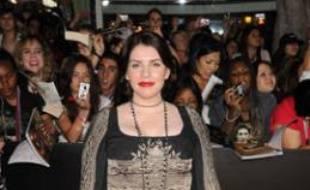 Stephenie Meyer, auteur de la saga Twilight, à l'avant première de l'épisode Fascination, le 16 novembre 2009.