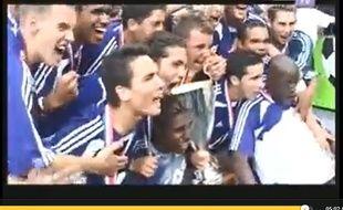 Capture d'écran de la victoire de Toulouse lors de la Coupe Gambardella 2005 sur TFC TV.