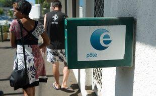 St Leu le 09 fevrier 2012. Illustration agence pole emploi et chomeurs a La Reunion.