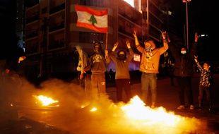 Des manifestants à Beyrouth, le 16 janvier 2020.