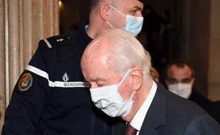 Paris, le 19 Janvier 2021. Edouard Balladur arrive à la Cour de justice de la République où il est jugé dans le cadre de l'affaire Karachi.