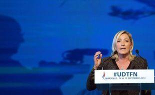 La présidente du Front national, Marine Le Pen, le 15 septembre à Marseille.