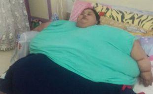Eman Ahmed Abd El Aty, 36 ans, pèse 500 kg et serait atteinte d'éléphantiasis. Celle qui qui serait la plus grosse femme du monde est arrivée le 11 février 2017 en Inde pour y être opérée.