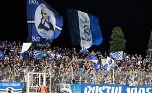 Des supporters de Bastia lors d'un match contre Toulouse le 31 août 2013.