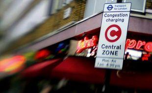 A Londres, les tarifs de congestion s'appliquent sur une zone restreinte de 21 km2. L'hypercentre.