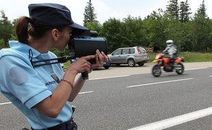 Un contrôle routier effectué par la gendarmerie. (Illustration)